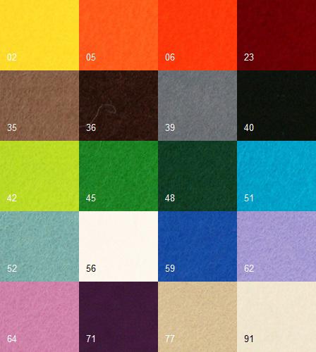 wool felt colours