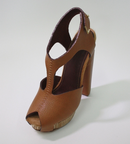 Plexwood® Molly Pryke handcrafted wooden designer shoe of heels from  100% recycled post industrial content