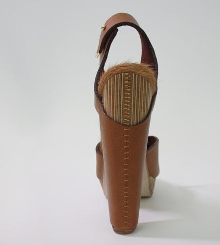 Plexwood® Molly Pryke mooie gerecycled hoge hakken designer schoen van berken bewerkt multiplex