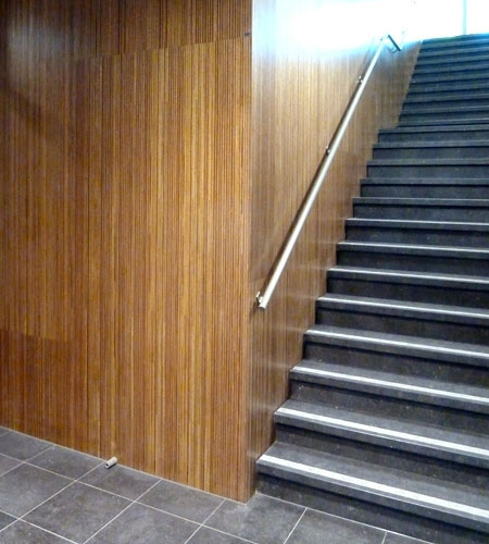 Plexwood® Parnassia mental health hospital wall cladding with meranti luxurious sustainable architectural plywood