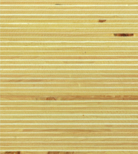 Plexwood® Poplar oil/wax finish, natural coloured green fineline surfacing veneer multiplex