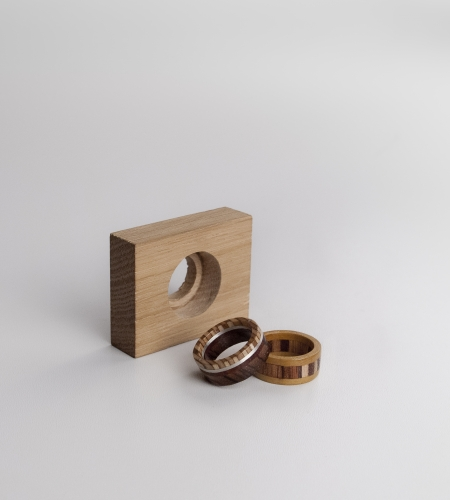 Plexwood® Timberring totally socially responsible wooden rings from recycled reverse plywood