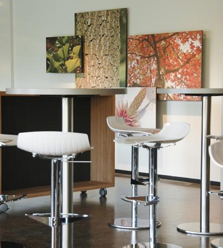 Plexwood® Tree Nursery Van den Berk furniture on casters in ocoumé high end eco plywood surface veneer