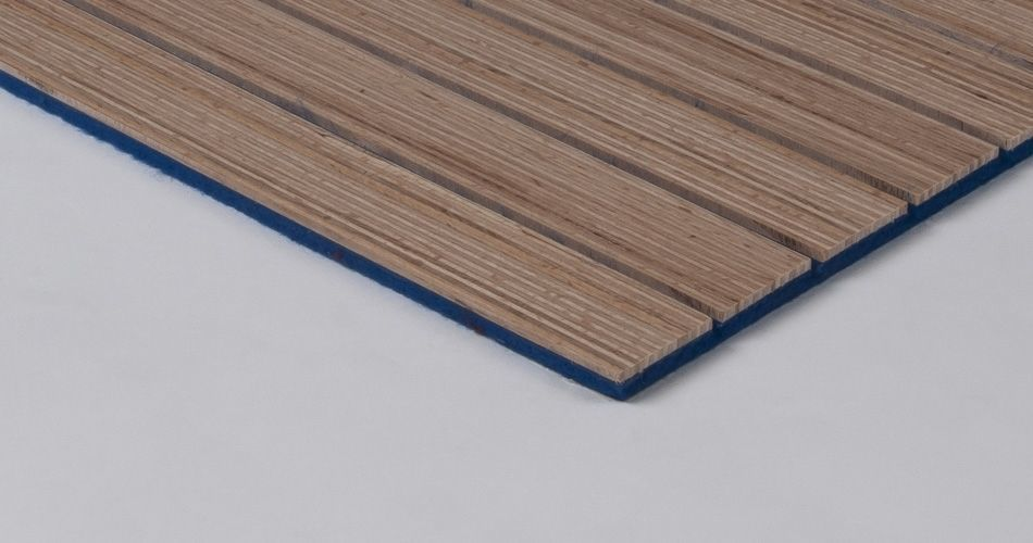 Plexwood® - Acoustic - Wool felt flexible for wall, ceiling, furniture and sharply curved or flexible forms