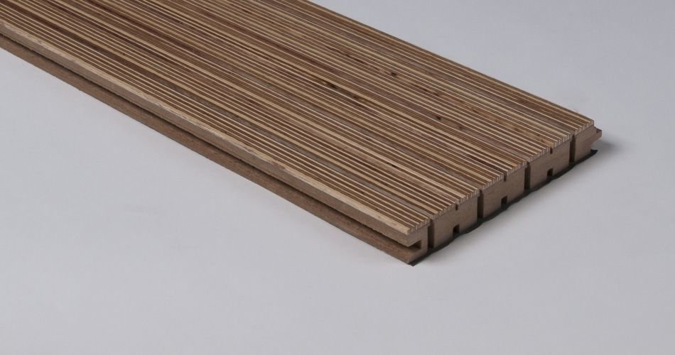 Acoustic plank for wall and ceiling, linear groove with slot TLS 14/2