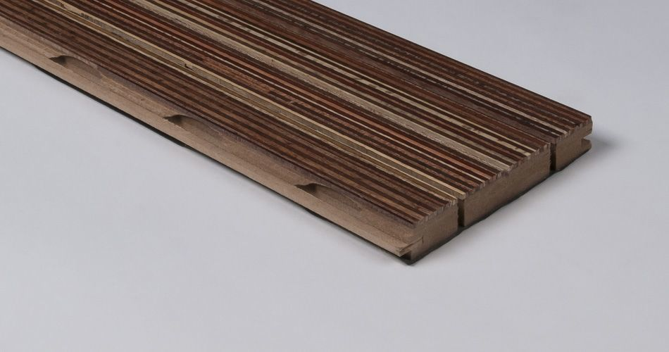 Acoustic plank for wall and ceiling, linear groove with slot TLS 30/2