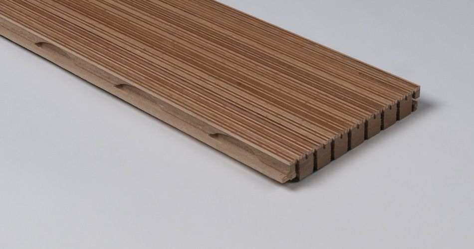 Acoustic plank for wall and ceiling, linear groove with slot TLS 6/2
