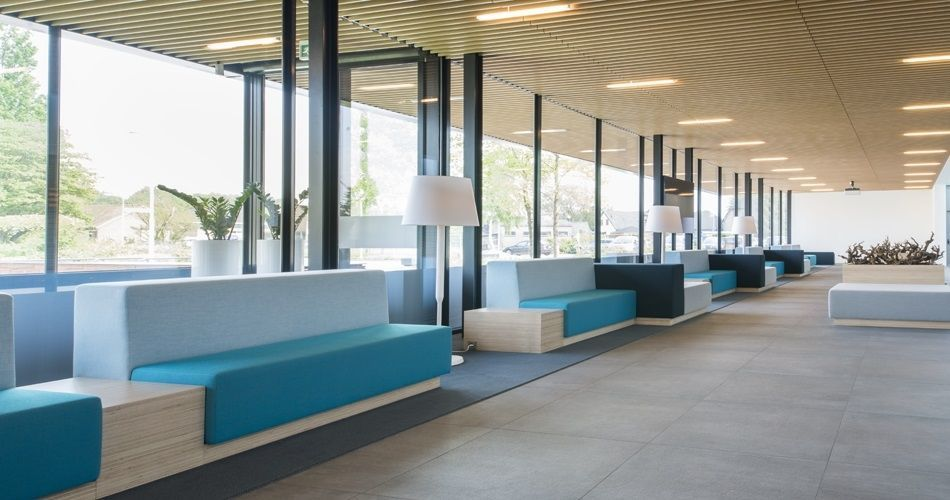 Plexwood® City hall of Montferland Didam waiting area benches in Plexwood - Birch plywood furniture
