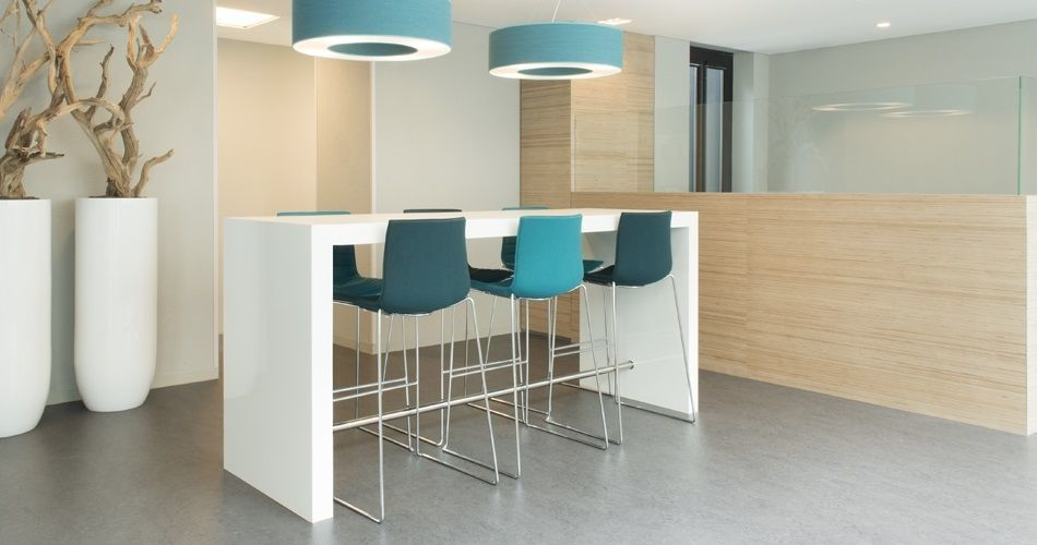 Plexwood® City hall Montferland Didam De Twee Snoeken architects work space high tables and Plexwood - Birch furniture