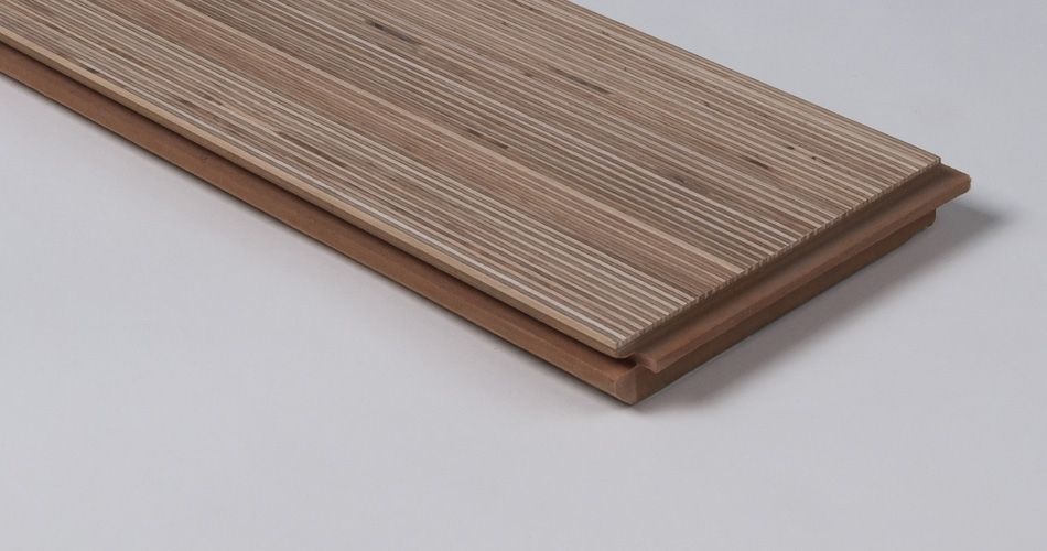 Plexwood® Two-layer Plank with cross-grained reconstructed veneer wood for floating and bonded applications