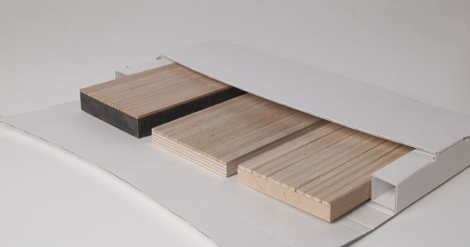 Plexwood® A sample box with brochures plus 3 untreated wood samples of your choice