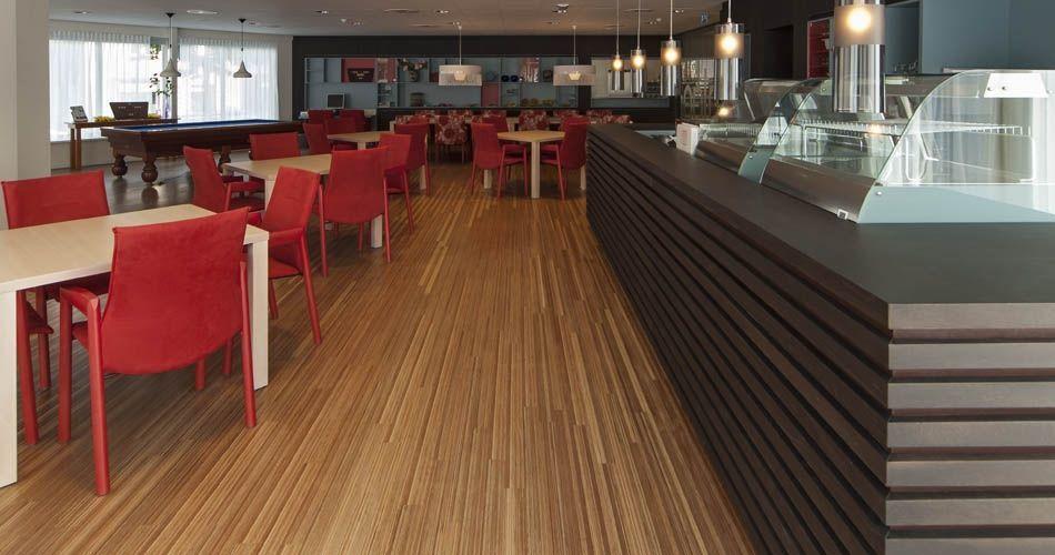 Plexwood® Avondzon Elderly Home common activity room heavy traffic solid remodelled meranti floor applications