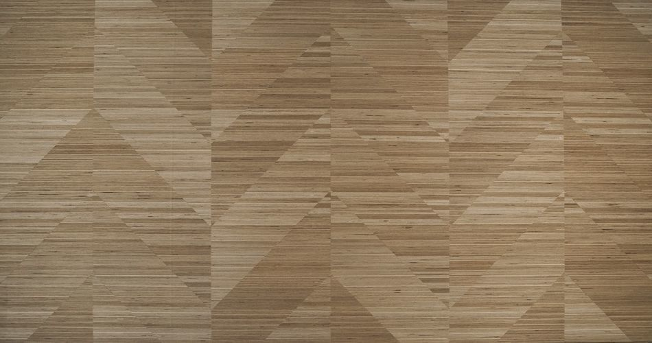 Plexwood® Rhombus mosaic architectural redesigned plywood surface veneer products with angles of 0, 45° or 90°