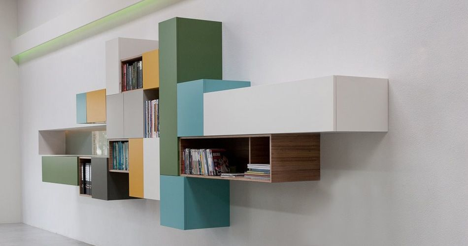 Plexwood® Simon Rijnboutt for Kastwerk colourful bespoke cabinetry from sliced-up meranti plywood veneer panels