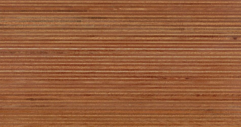 Plexwood® Ocoumé oil/wax finish, multiple layered plywood composite veneer