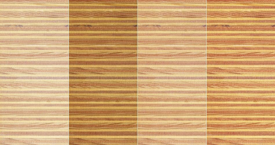 Plexwood® Pine/Ocoumé multiplex composites, a combination of finishes on this type of wood