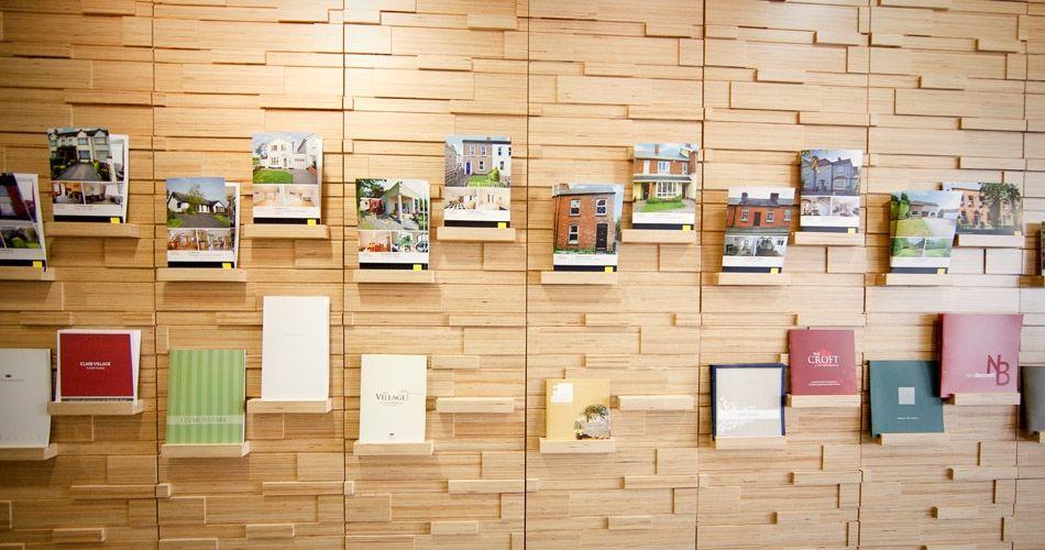 Plexwood® Savills HQ relief wall frontal in birch modified composite veneer