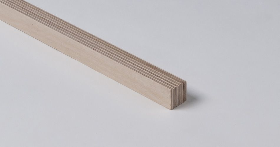 Plexwood® Profile modern design solid structural veneer lumber edges for furniture, walls and floors