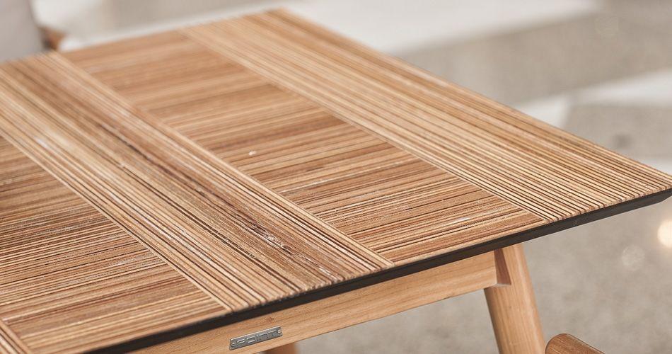 Plexwood® Skye & Walker Tischplatten Detail mit Plexwood geometrischen quadratischem Fliesen-Design