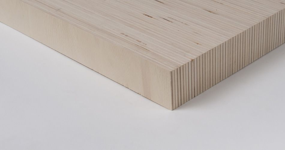 Plexwood® Solid recomposite wooden sheets from sideways plywood, for loose table tops or small design items