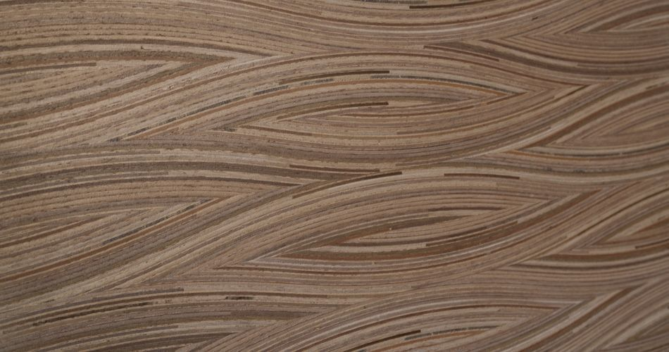 Plexwood® Special, Curved patterns for furniture, walls or other decorative applications