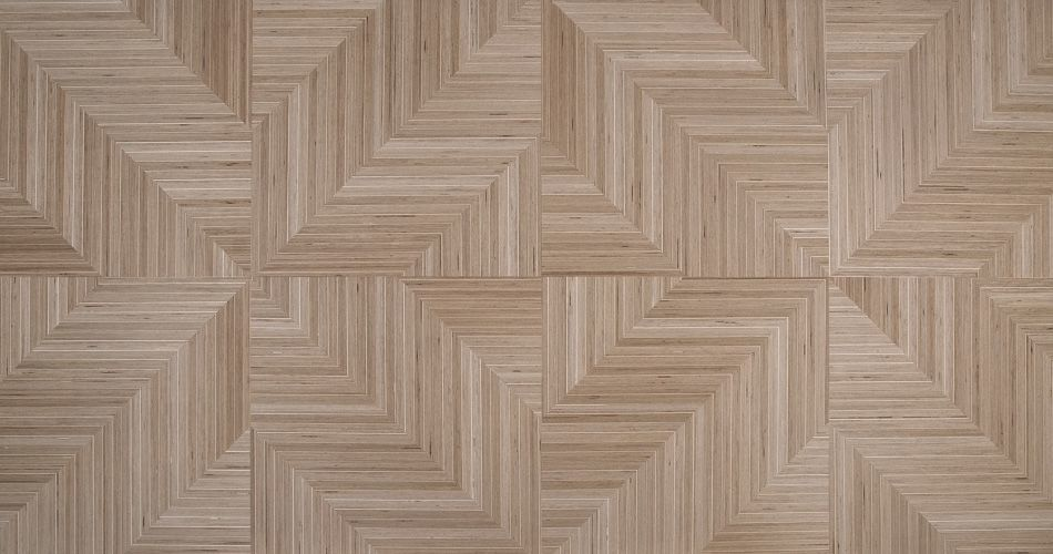 Plexwood® Quality planks, tiles and panels with modern design trapezium inlay veneer with an angle of 0, 15° or 90°