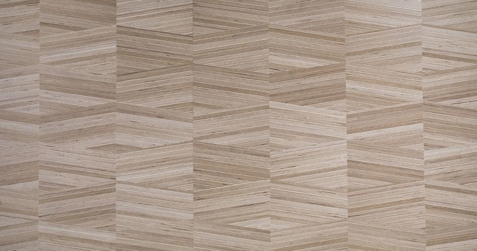 Plexwood® Finest trapezium designs in architectural luxury wood veneer materials with angles of 0, 15° or 90°